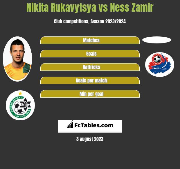 Nikita Rukavytsya vs Ness Zamir h2h player stats