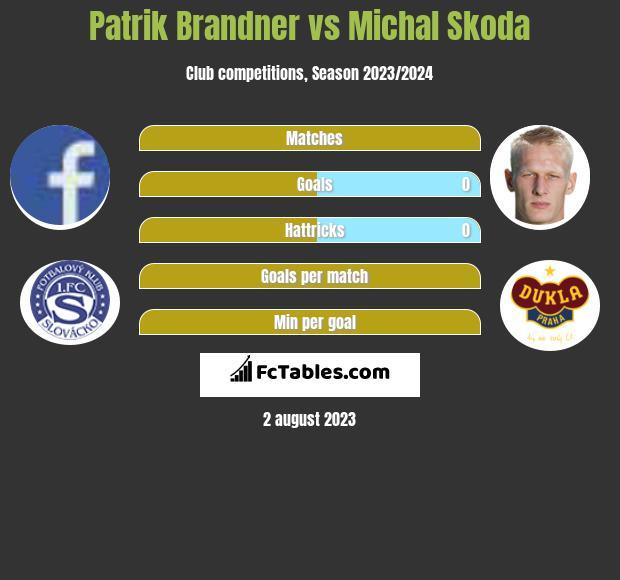 Patrik Brandner vs Michal Skoda h2h player stats