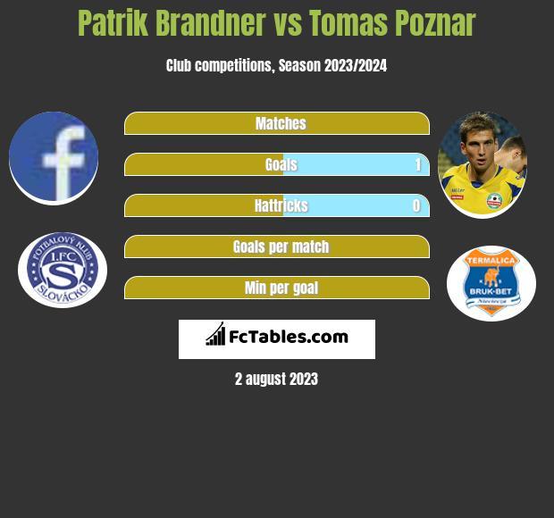 Patrik Brandner vs Tomas Poznar h2h player stats