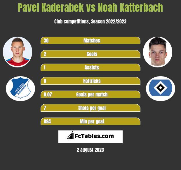 Pavel Kaderabek vs Noah Katterbach infographic