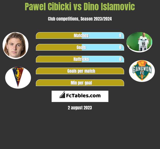 Pawel Cibicki vs Dino Islamovic h2h player stats