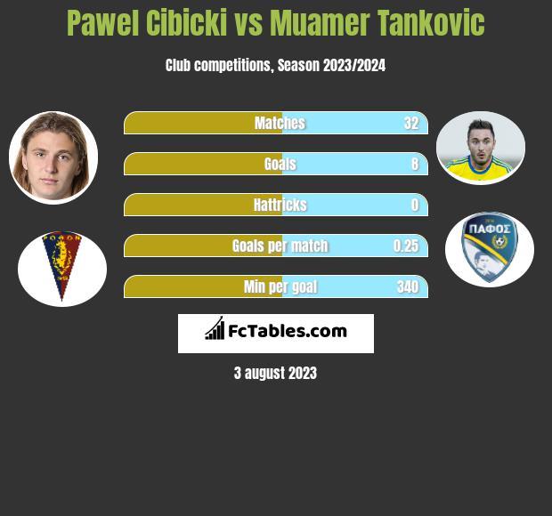 Pawel Cibicki vs Muamer Tankovic h2h player stats