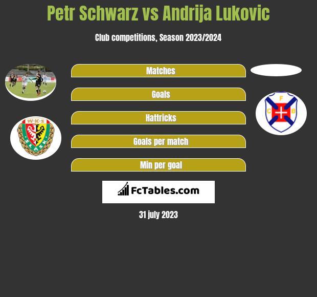 Petr Schwarz vs Andrija Lukovic infographic
