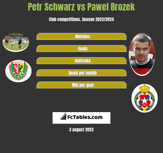 Petr Schwarz vs Pawel Brozek infographic