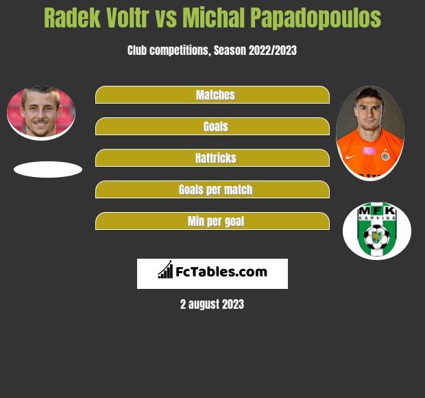 Radek Voltr vs Michal Papadopoulos h2h player stats