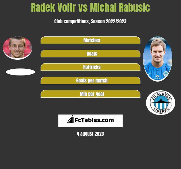 Radek Voltr vs Michal Rabusic h2h player stats