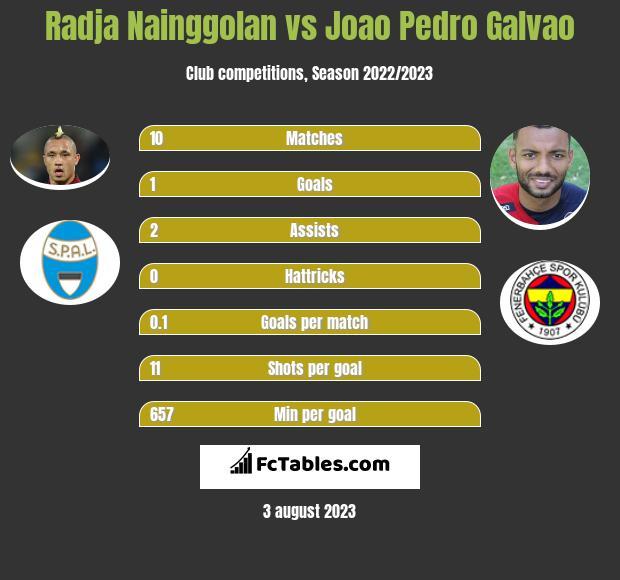 Radja Nainggolan vs Joao Pedro Galvao infographic