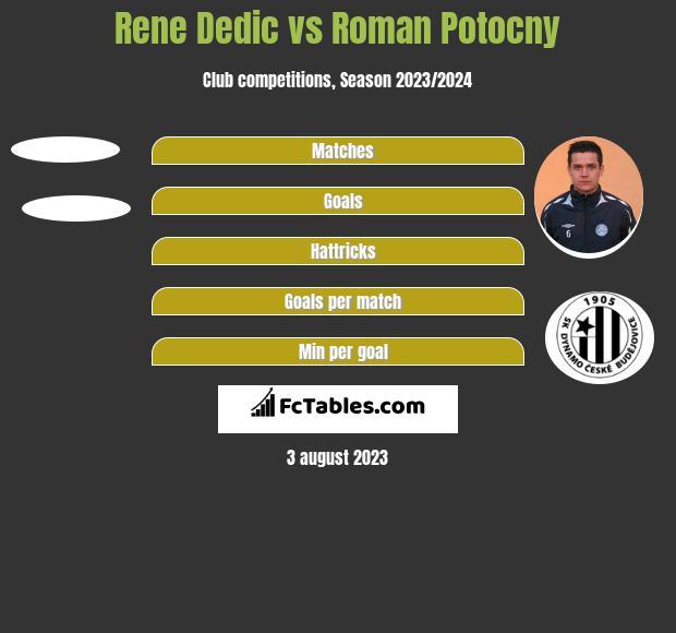 Rene Dedic vs Roman Potocny h2h player stats