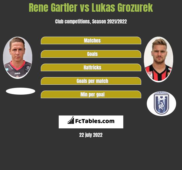Rene Gartler vs Lukas Grozurek h2h player stats