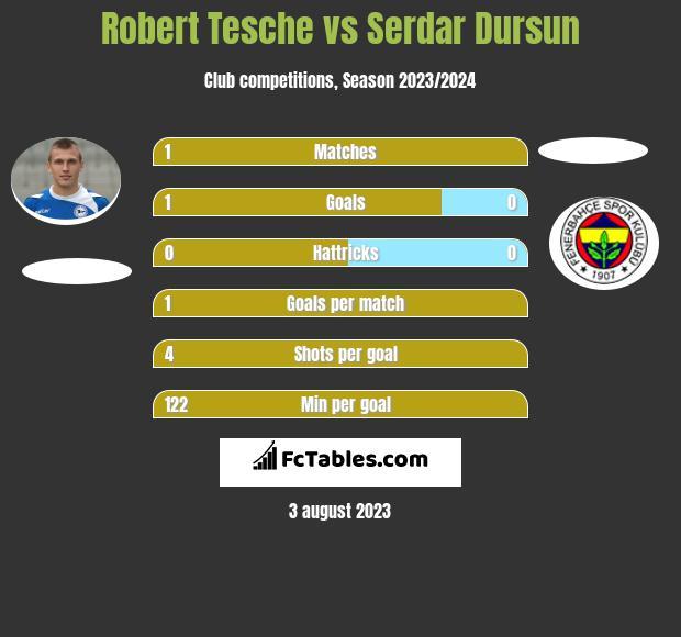 Robert Tesche vs Serdar Dursun infographic