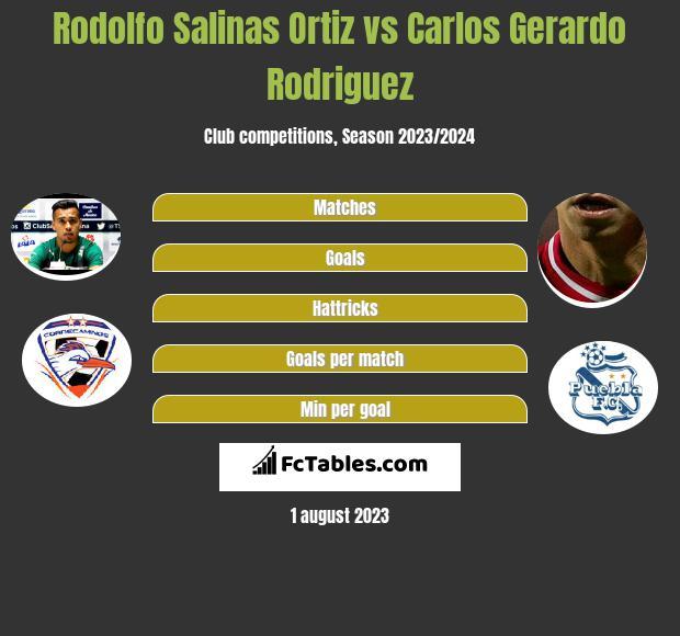Rodolfo Salinas Ortiz vs Carlos Gerardo Rodriguez infographic