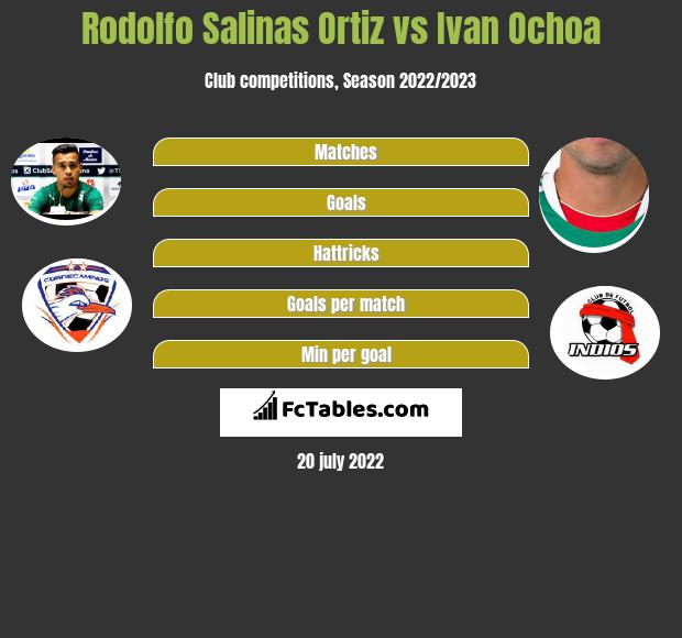Rodolfo Salinas Ortiz vs Ivan Ochoa infographic
