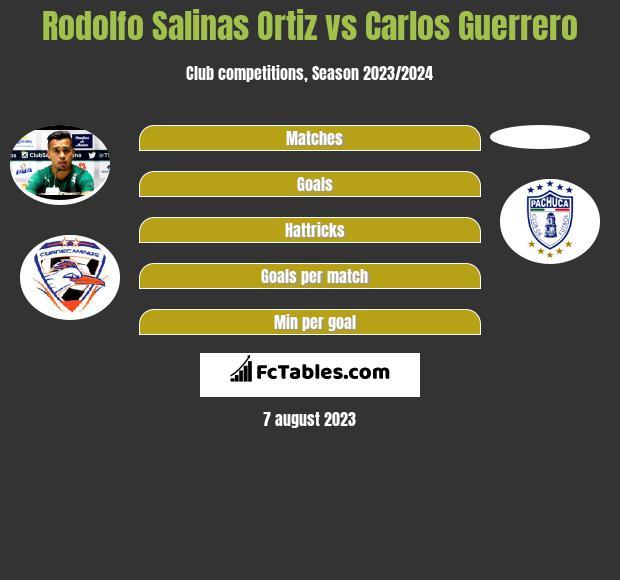Rodolfo Salinas Ortiz vs Carlos Guerrero infographic