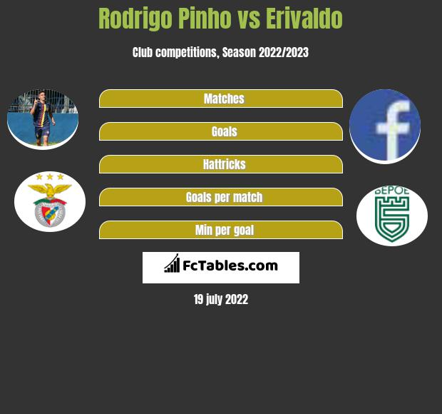 Rodrigo Pinho vs Erivaldo infographic