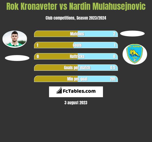 Rok Kronaveter vs Nardin Mulahusejnovic infographic
