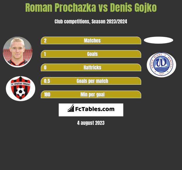 Roman Prochazka vs Denis Gojko infographic