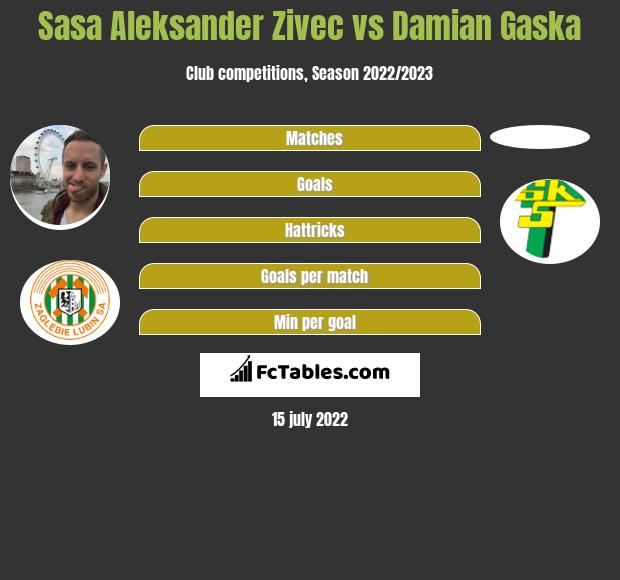 Sasa Aleksander Zivec vs Damian Gaska infographic