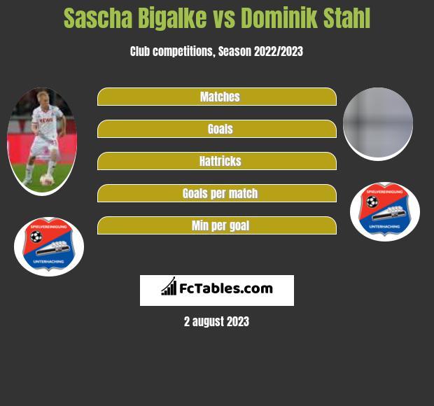 Sascha Bigalke vs Dominik Stahl infographic