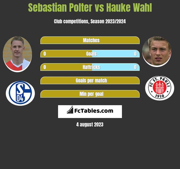 Sebastian Polter vs Hauke Wahl h2h player stats
