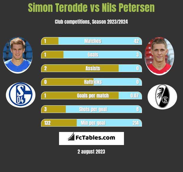 Simon Terodde vs Nils Petersen infographic