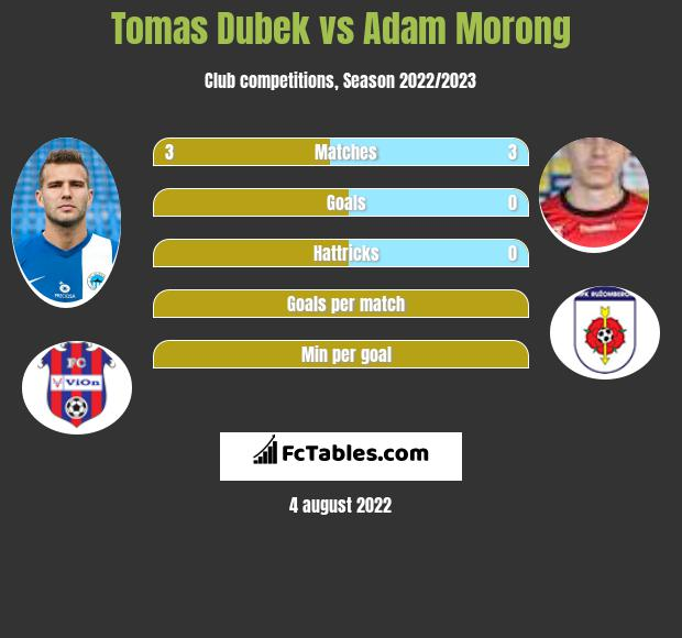 Tomas Dubek vs Adam Morong h2h player stats