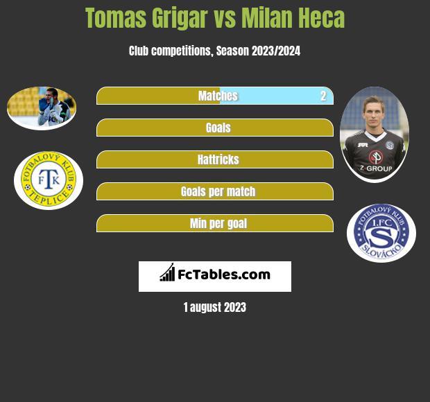 Tomas Grigar vs Milan Heca infographic