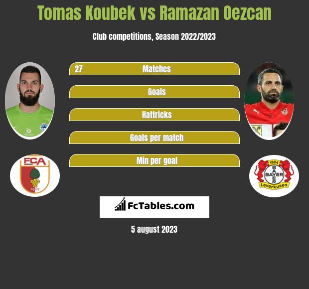 Tomas Koubek vs Ramazan Oezcan infographic