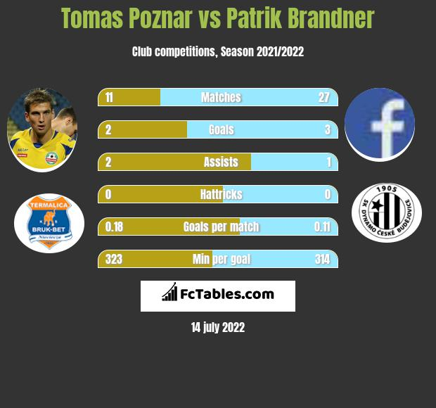 Tomas Poznar vs Patrik Brandner h2h player stats
