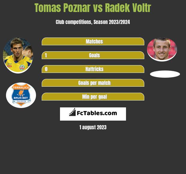 Tomas Poznar vs Radek Voltr h2h player stats