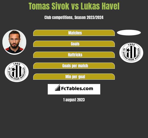 Tomas Sivok vs Lukas Havel infographic