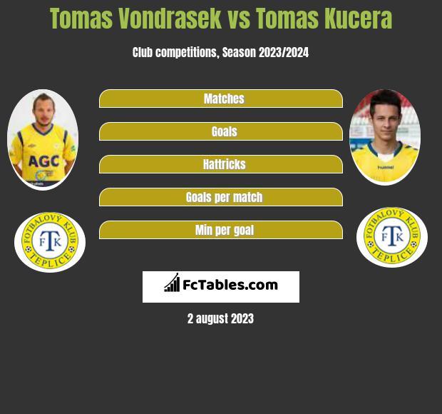 Tomas Vondrasek vs Tomas Kucera infographic