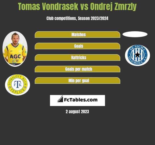 Tomas Vondrasek vs Ondrej Zmrzly infographic