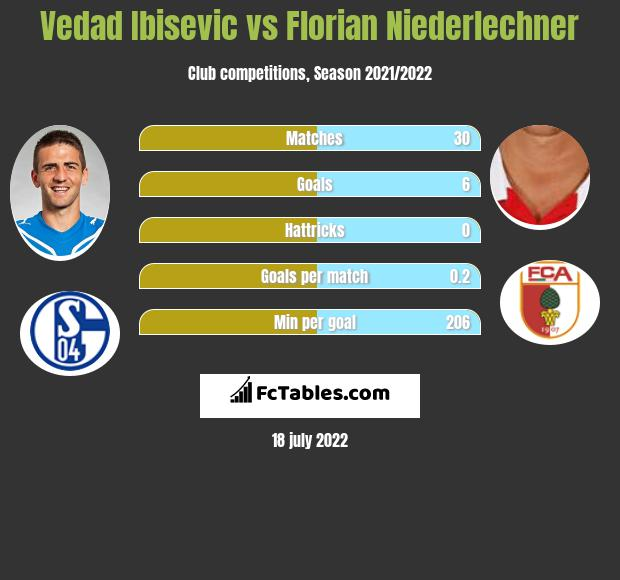 Vedad Ibisevic vs Florian Niederlechner h2h player stats