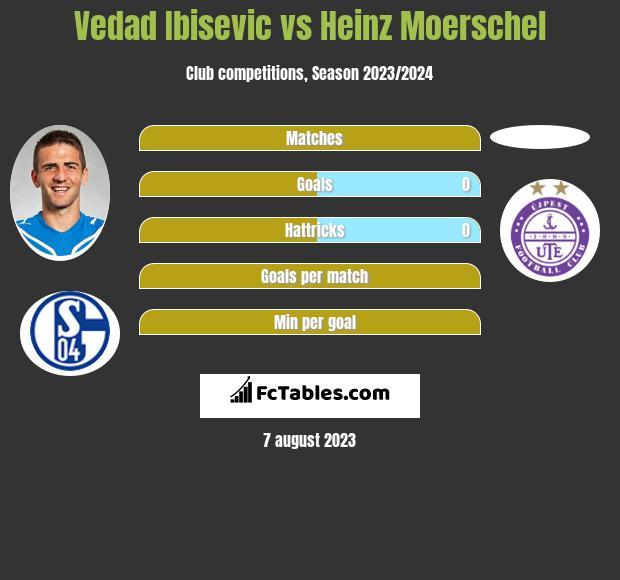Vedad Ibisevic vs Heinz Moerschel h2h player stats