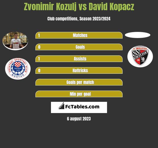 Zvonimir Kozulj vs David Kopacz infographic