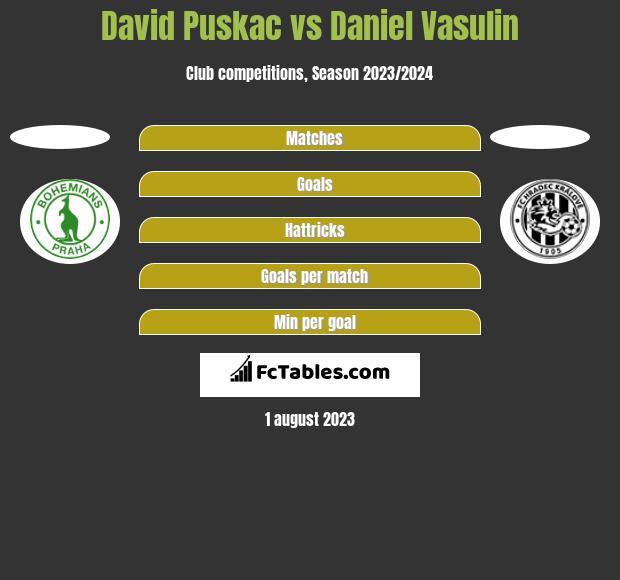 David Puskac vs Daniel Vasulin h2h player stats