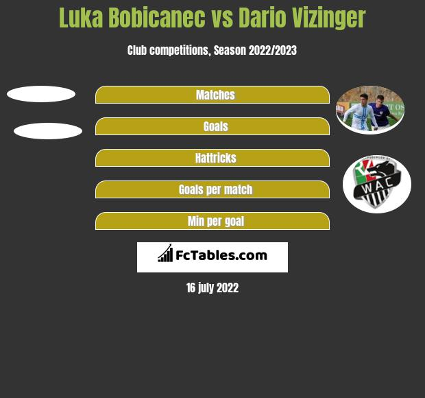 Luka Bobicanec vs Dario Vizinger h2h player stats