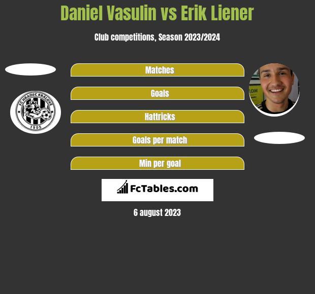Daniel Vasulin vs Erik Liener h2h player stats