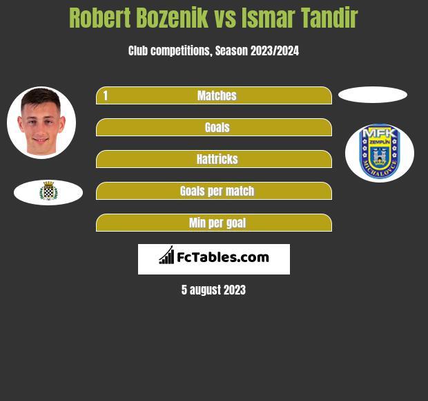 Robert Bozenik vs Ismar Tandir h2h player stats