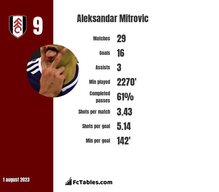 Aleksandar Mitrović infographic