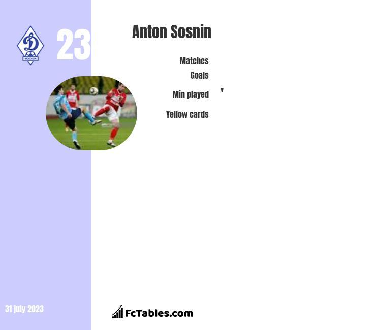 Anton Sosnin infographic