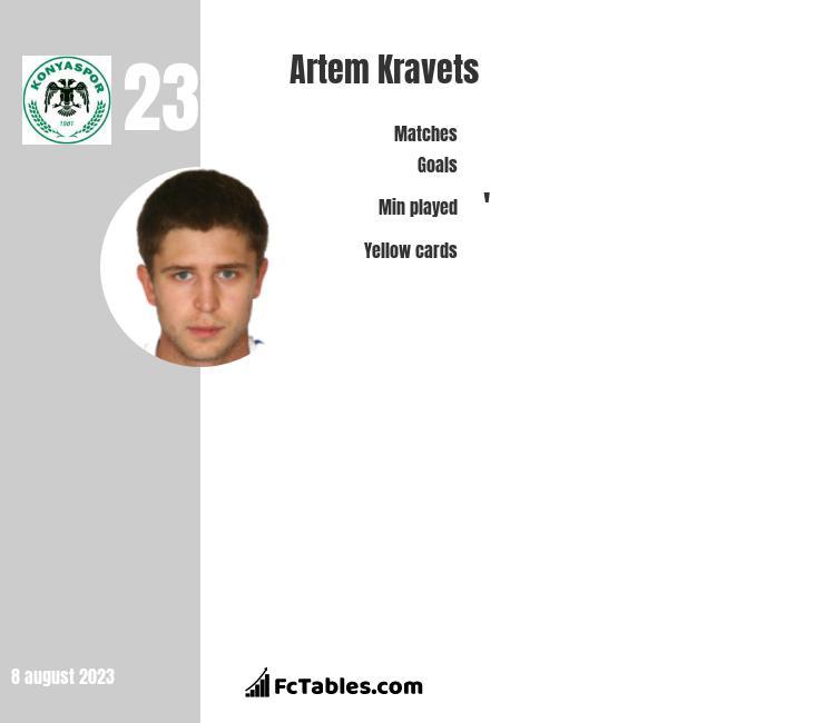 Artem Kravets infographic