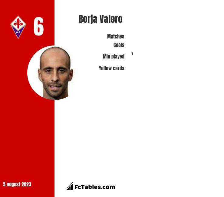 Borja Valero infographic