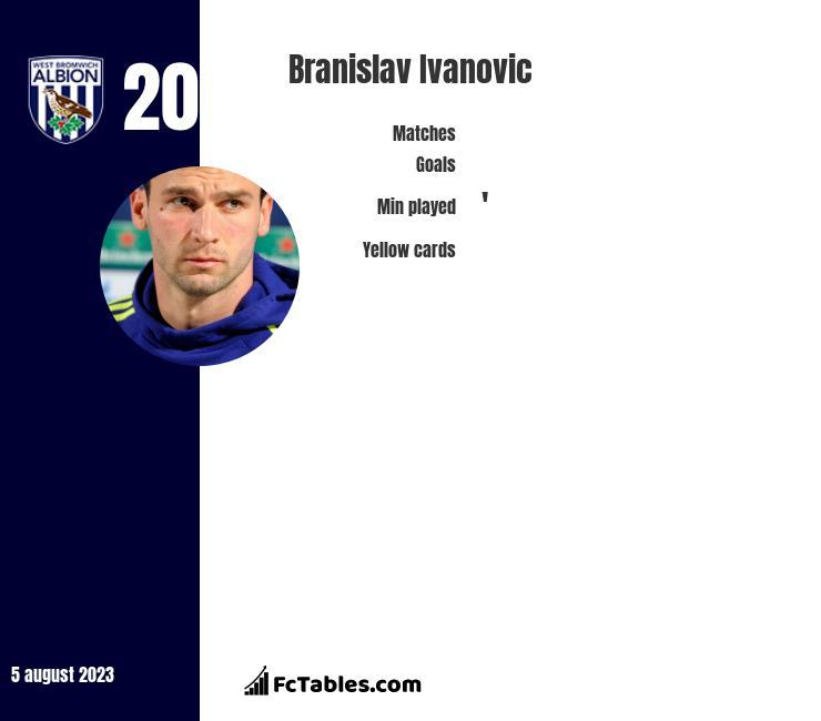 Branislav Ivanović infographic