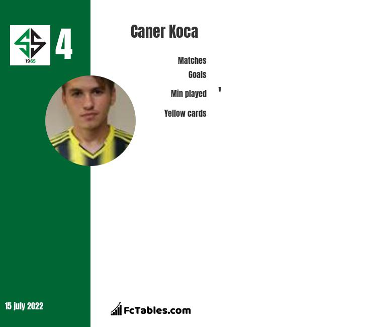 Caner Koca infographic