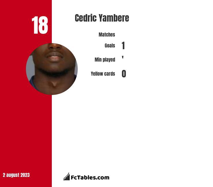 Cedric Yambere infographic