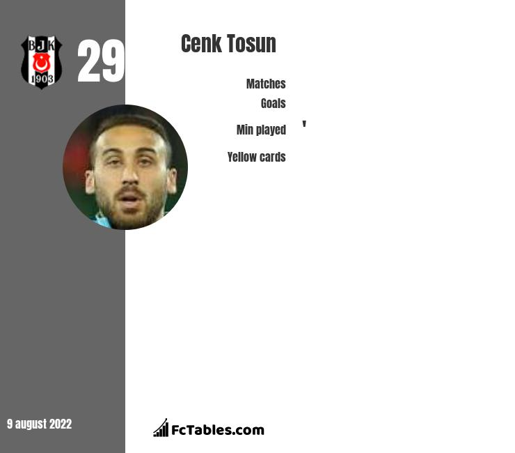 Cenk Tosun infographic statistics for Crystal Palace
