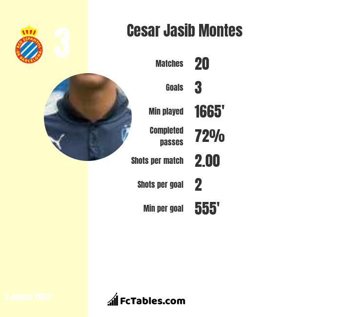 Cesar Jasib Montes infographic