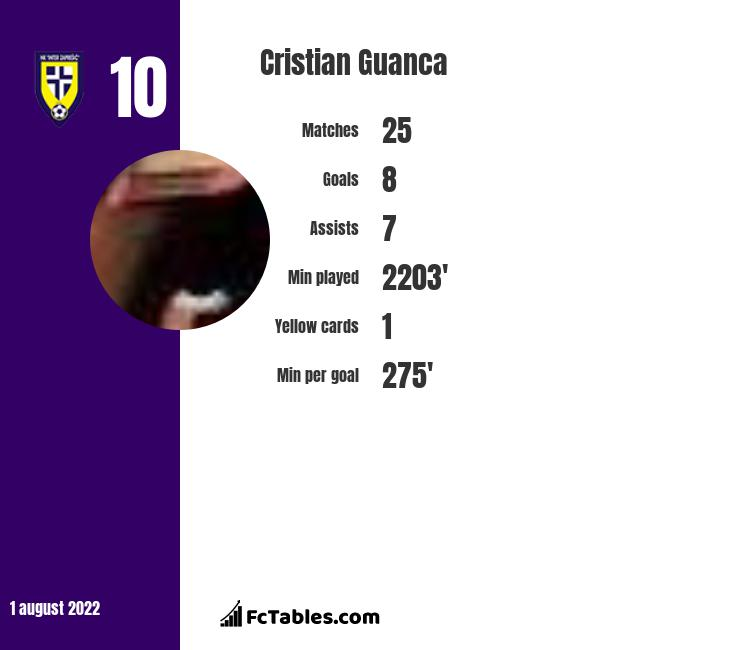 Cristian Guanca infographic