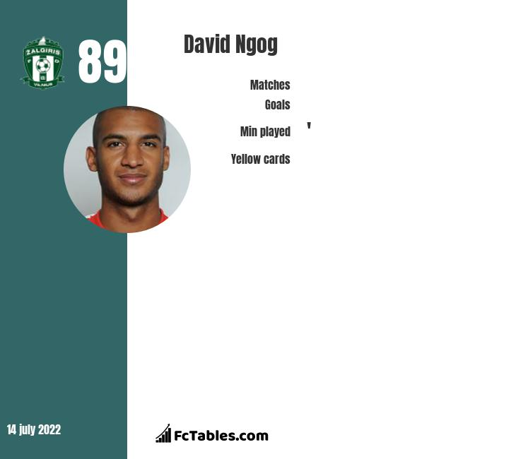 David Ngog infographic